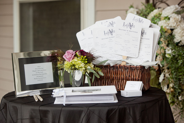 wedding welcome table