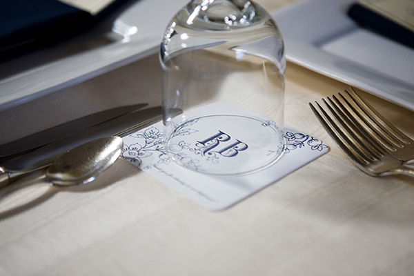 wedding reception coasters