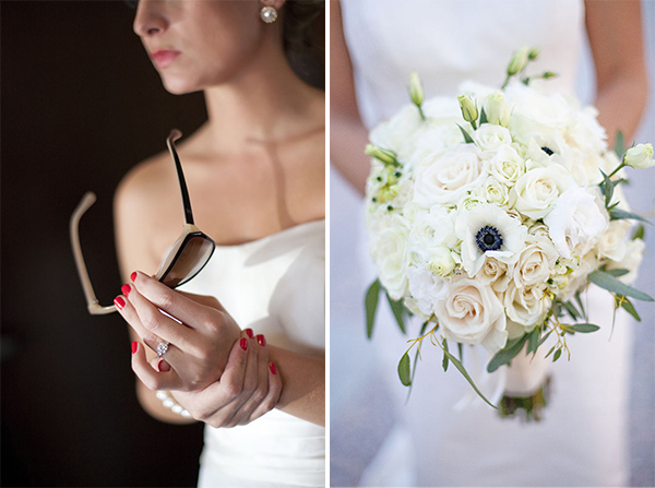 bride's ring & bouquet