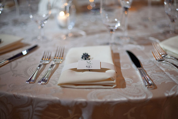 place setting wedding reception