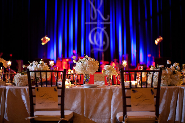 bride and grooms tables