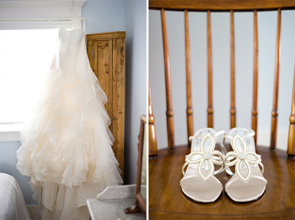 Bride's dress & shoes