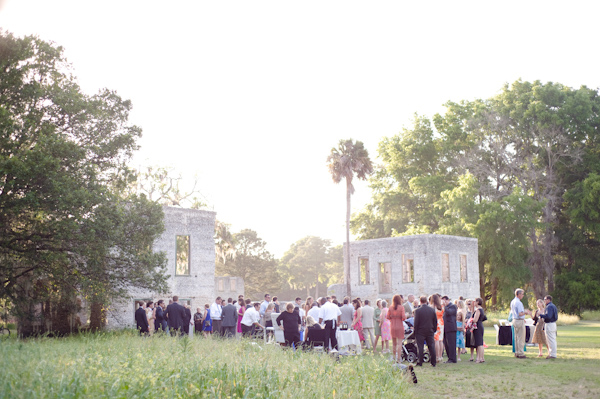 wedding reception at ruins